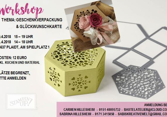 Workshop@Home zum Thema Geschenkverpackung & Karte