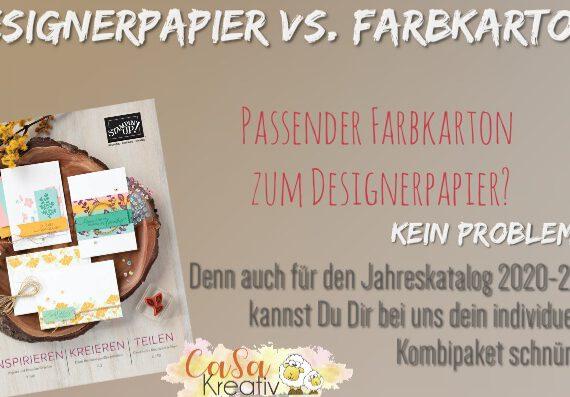 DESIGNERPAPIER VS. FARBKARTON